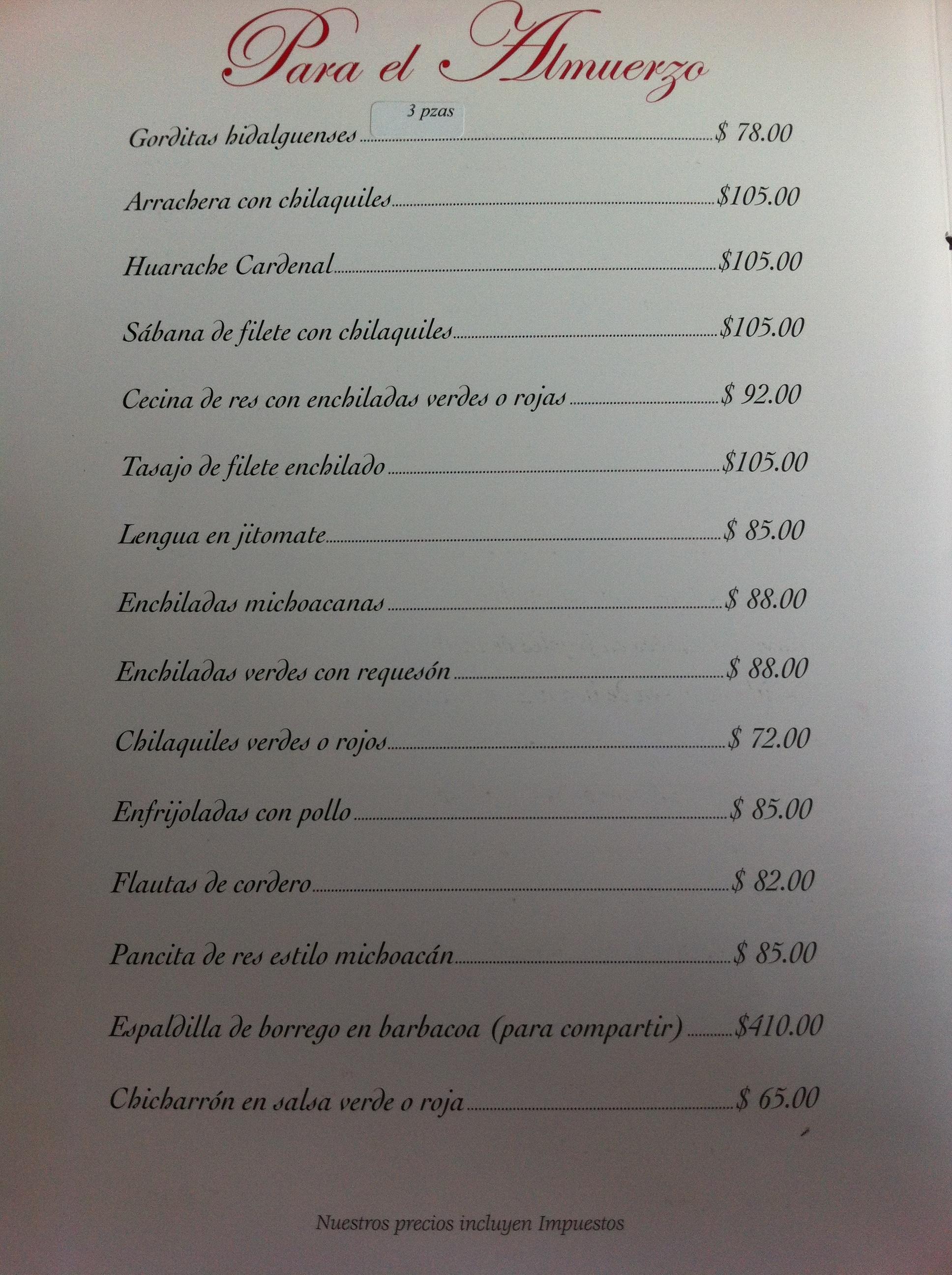 Men 250 Restaurante El Cardenal Comalca Gourmet