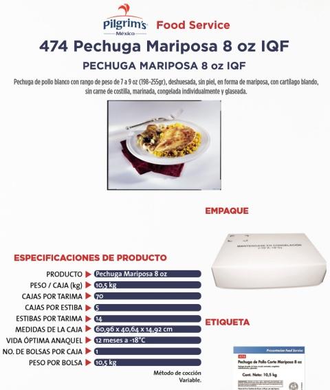 474 pe3chuga mariposa 8 oz