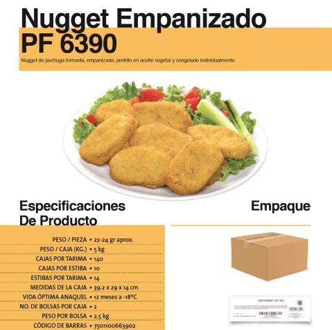 6390 nugget empanizado
