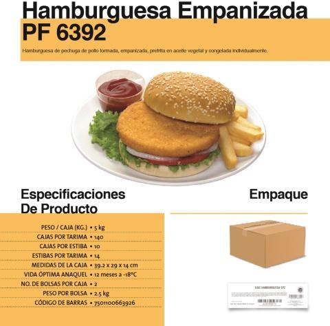 6392 hamburguesa empanizada