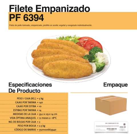 6394 filete empanizado