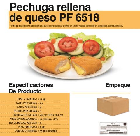 6518 pechuga rellena queso