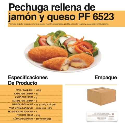 6523 pechuga rellena jamon queso