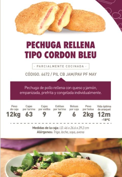 66782 pechuga rellena cordon blue premium