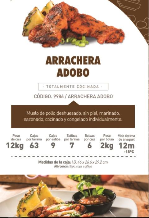 9986 arrachera adobo